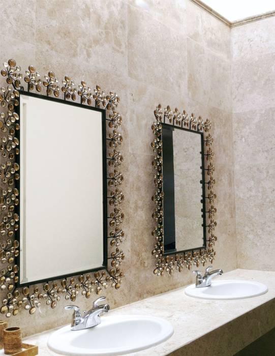 AGE/Alejandro Gaona Estudio Banheiros minimalistas Mármore Bege