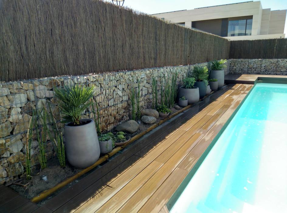Juego de macetas Jardines de estilo moderno de Irati Proyectos Moderno