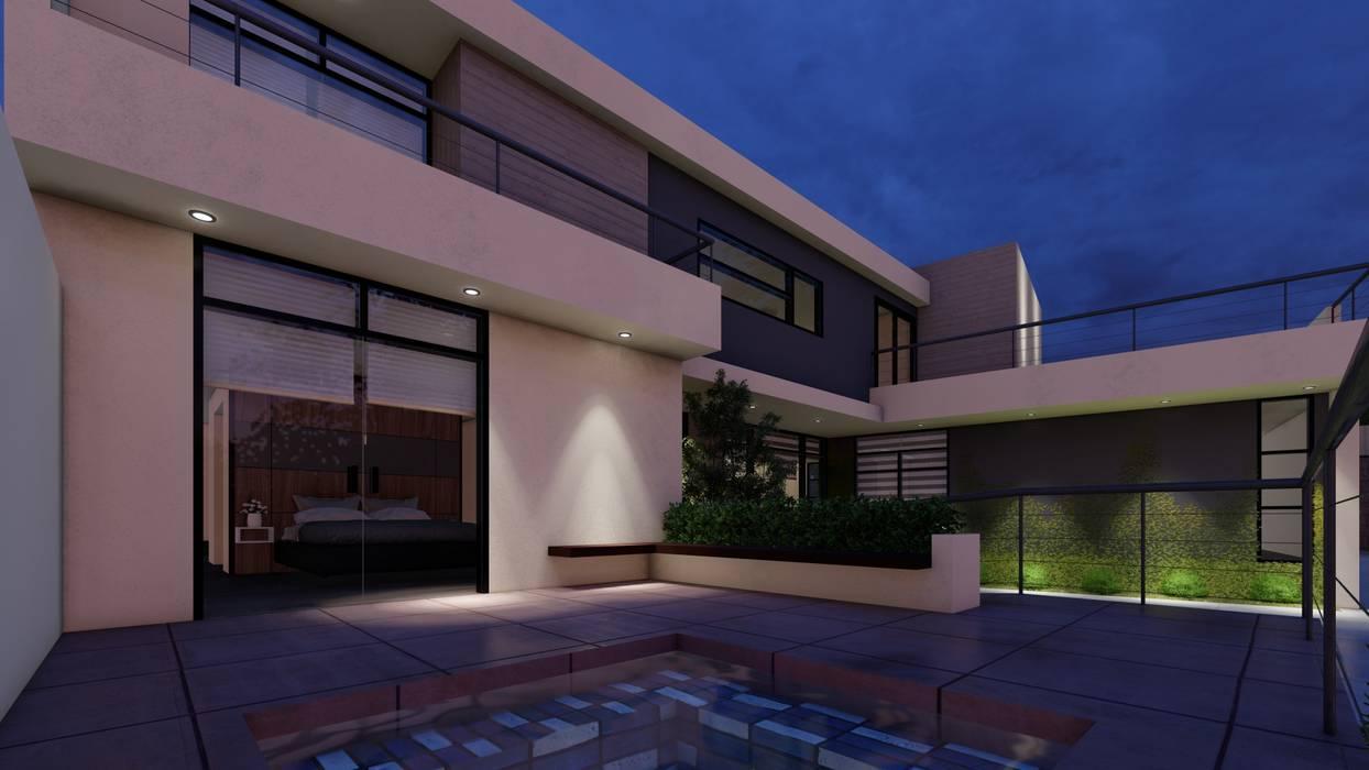 jacuzzi exterior de CONSTRUYE IDEAS Moderno Bambú Verde