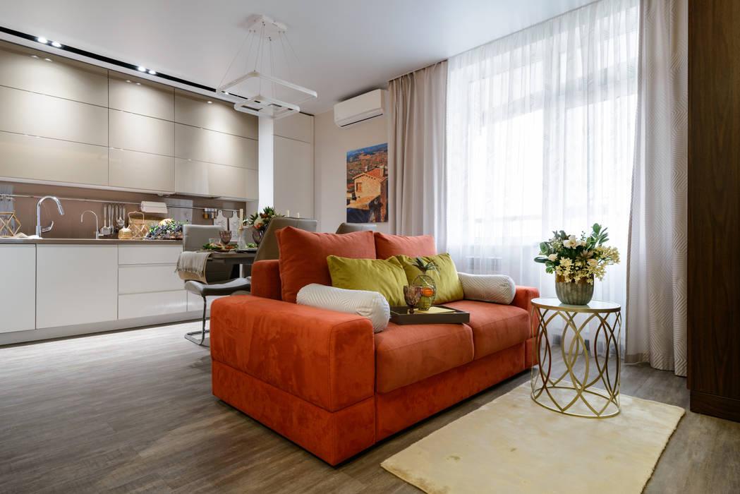 Кухня-гостиная Гостиные в эклектичном стиле от Индивидуальный дизайнер Уткина Дарья Эклектичный