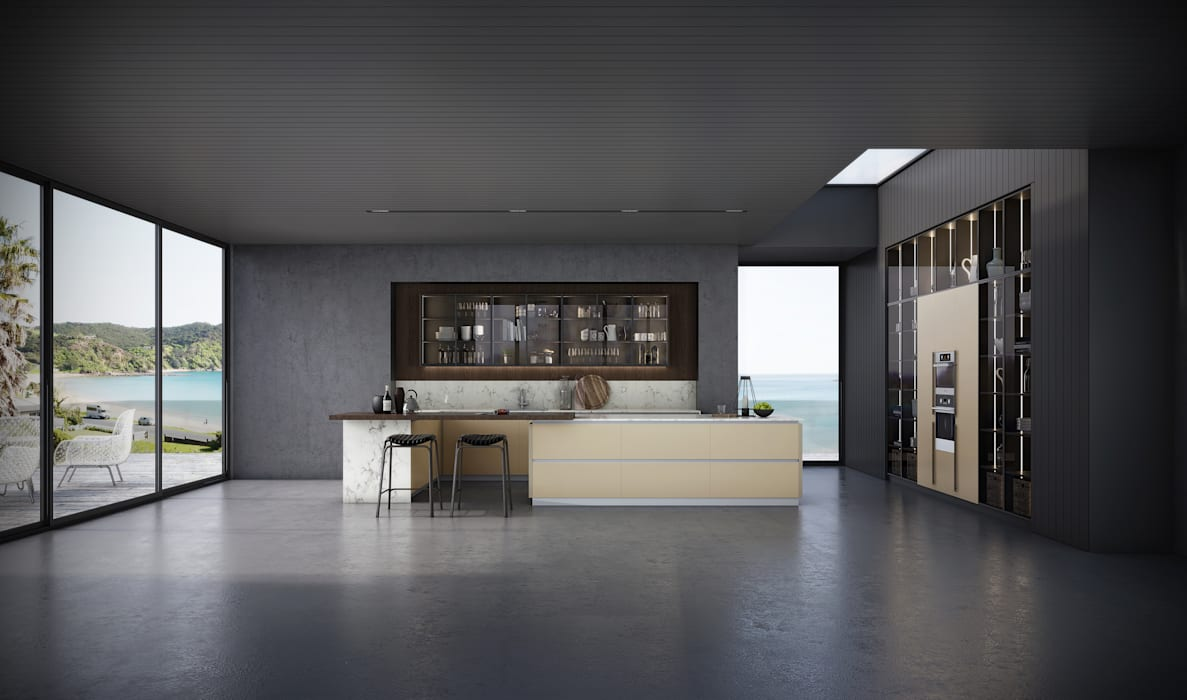 Premium Series Sleek Linear by Signature Kitchen Modern MDF