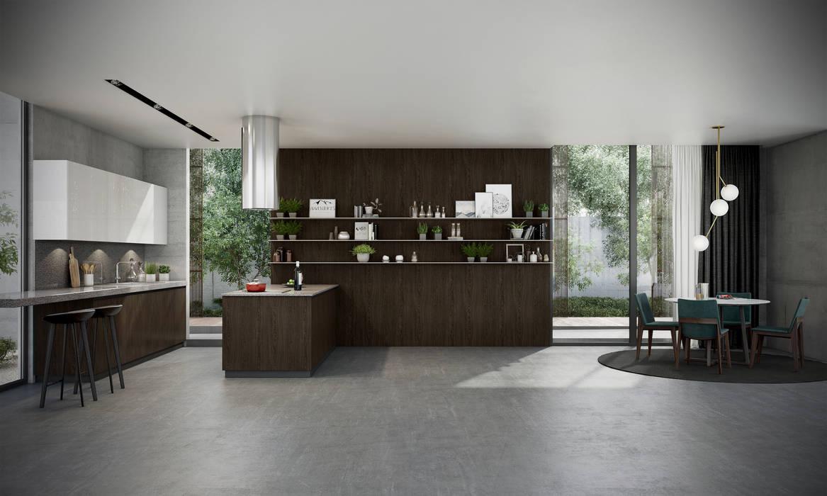 Premium Series Contemporary Oasis:  Kitchen units by Signature Kitchen, Modern MDF