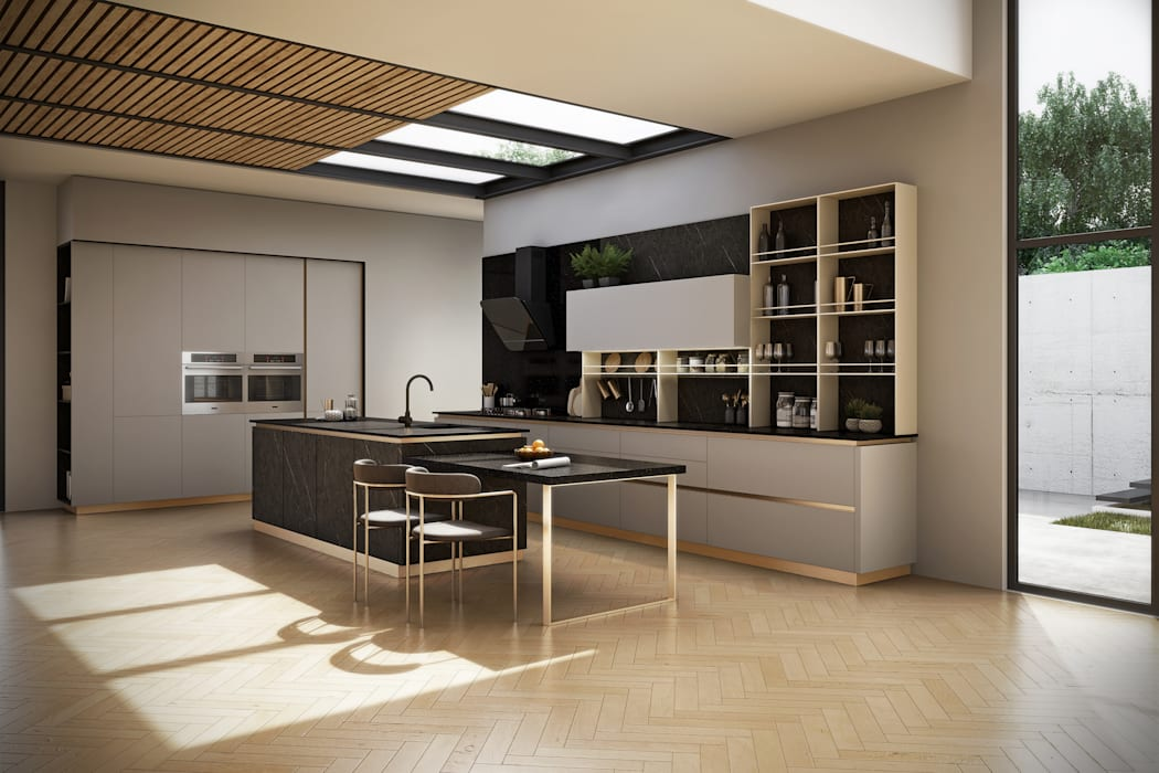 Mordern Contemporary:  Kitchen units by Signature Kitchen, Modern MDF