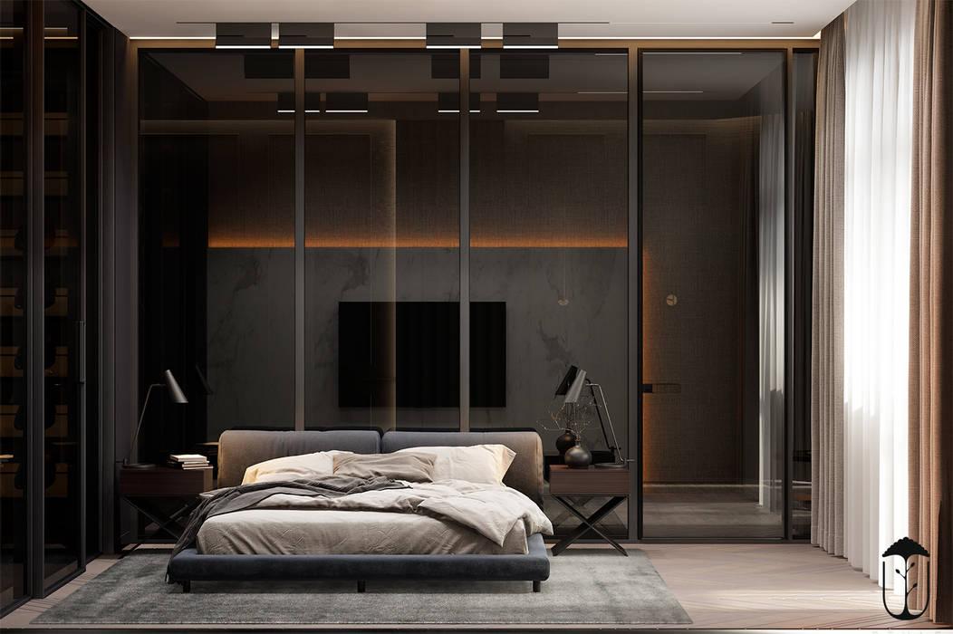 Chambre originale par U-Style design studio Éclectique