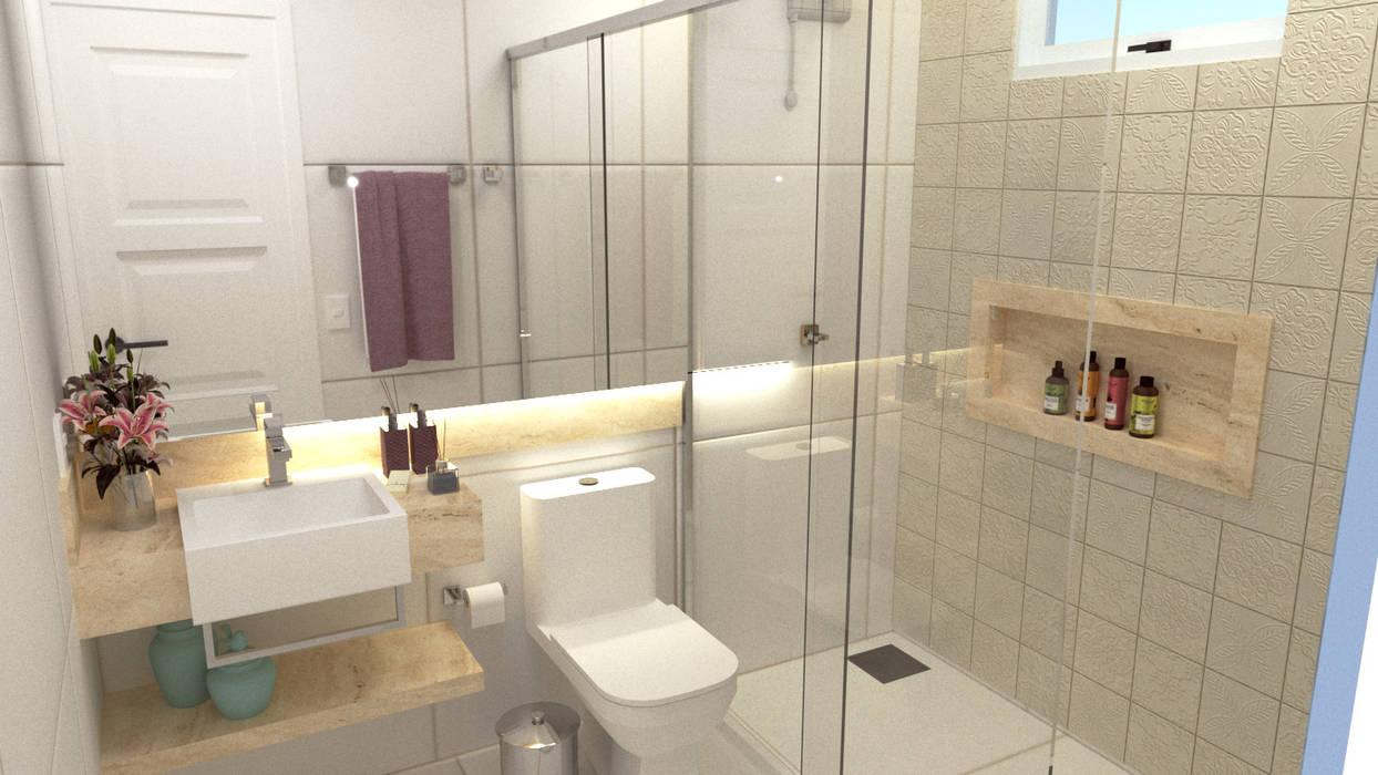 Banheiro Simples Com Cuba De Semi Encaixe E Espelho Retroiluminado Banheiros Modernos Por Joana Rezende Arquitetura E Arte Moderno Homify