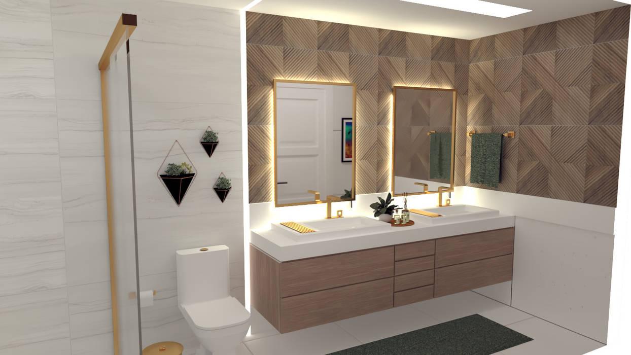 Banheiro De Casal Com Cuba Dupla E Iluminacao Especial Banheiros Classicos Por Joana Rezende Arquitetura E Arte Classico Homify