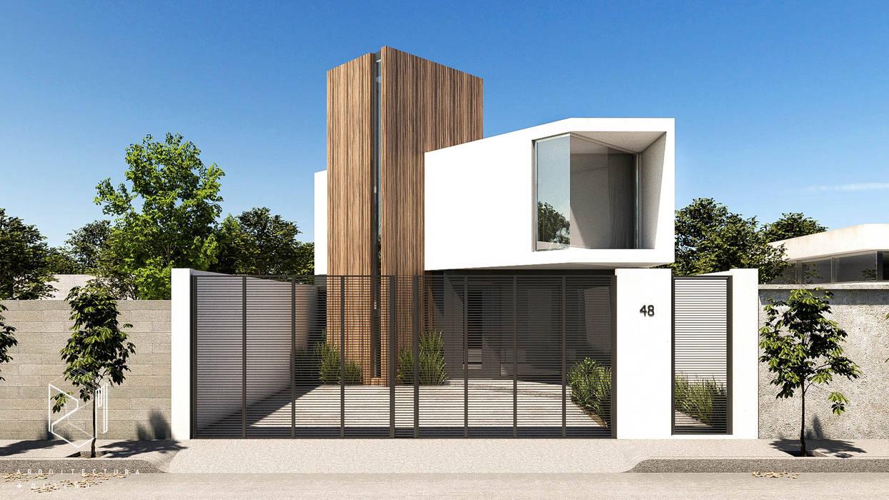 CASA CR: Casas pequeñas de estilo  por ZM ESTUDIO, Moderno Concreto