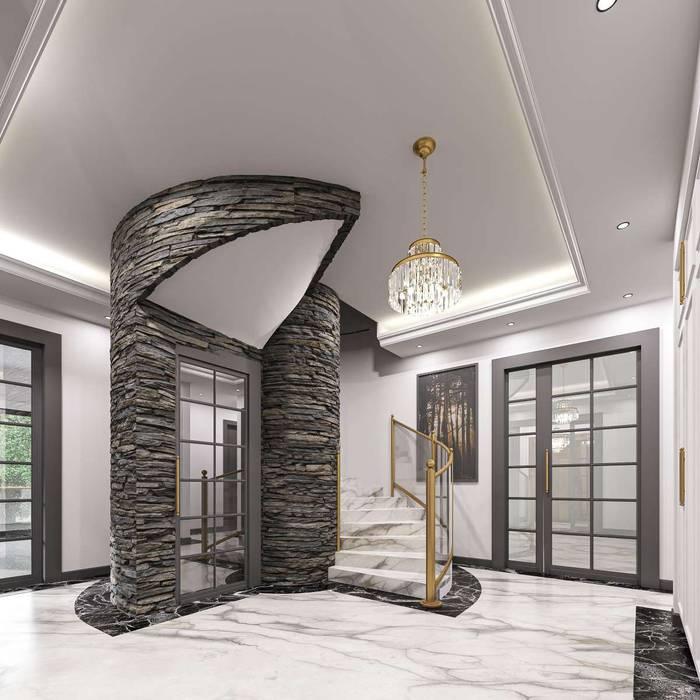 Aksaray Villa Modern Koridor, Hol & Merdivenler VERO CONCEPT MİMARLIK Modern