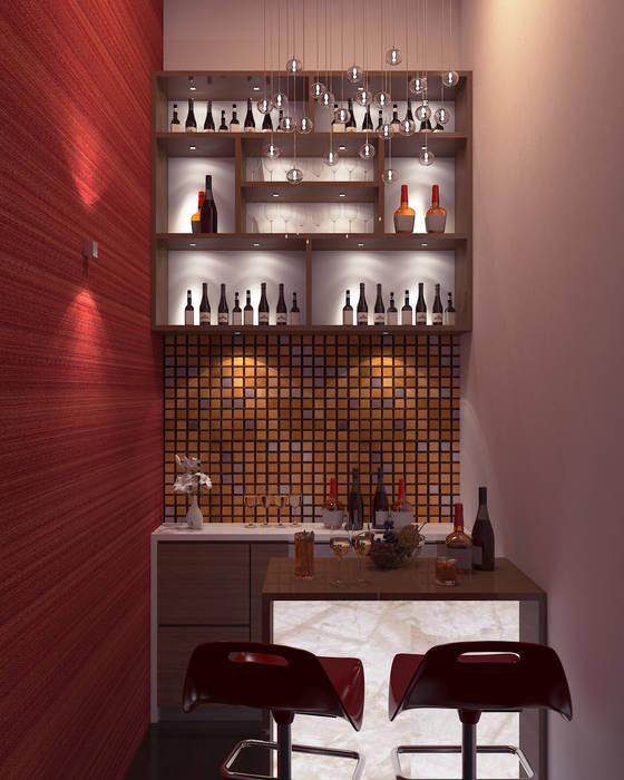 Bar Area Modern wine cellar by De Panache - Interior Architects Modern
