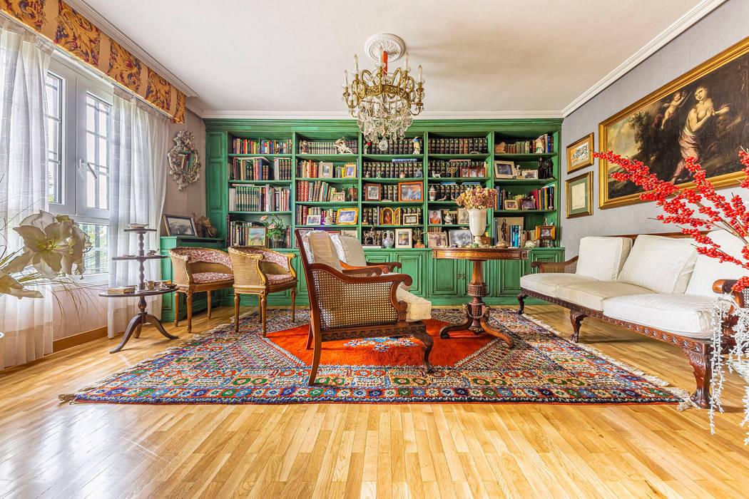 Salón Conde Orgaz Salones de estilo colonial de Bernadó Luxury Houses Colonial