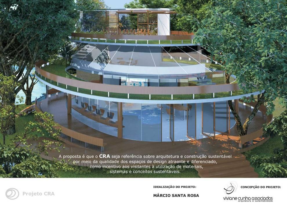 Centro de Referencia Ambiental na Lagoa Rodrigues de Freitas: Escritórios e Espaços de trabalho  por Viviane Cunha Arquitectura,Moderno