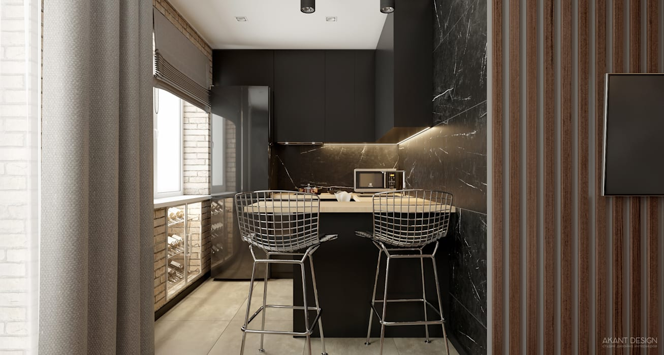 Built-in kitchens by AKANT Design, Industrial Marble