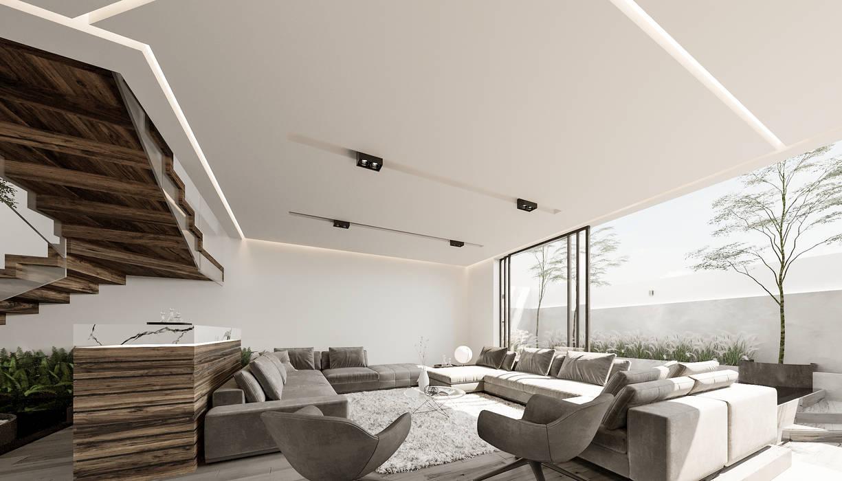 Preciosa sala para una residencia moderna Salas de estilo minimalista de Rebora Minimalista