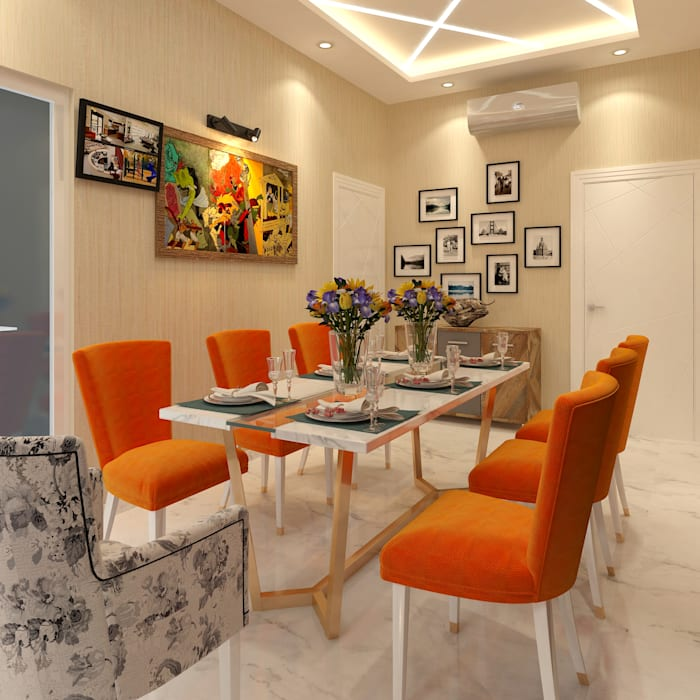 EAST OF KAILASH,NEW DELHI (RESIDENTIAL INTERIORS): modern  by SDINCO,Modern