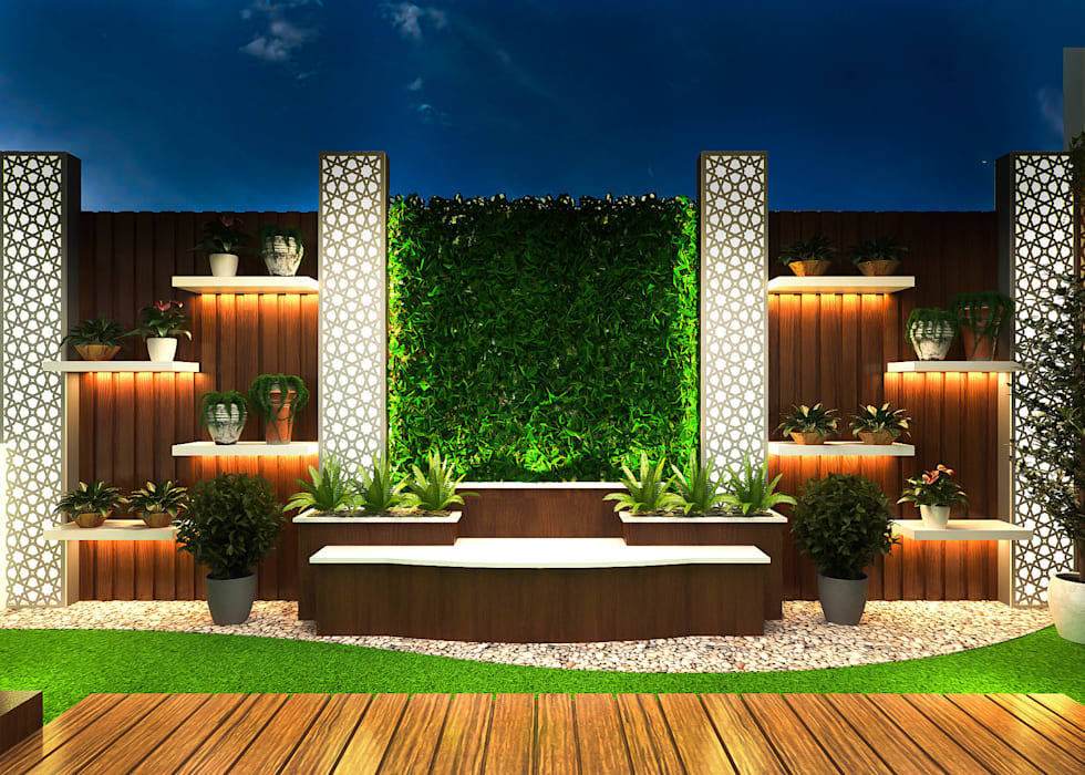 EAST OF KAILASH,NEW DELHI (RESIDENTIAL INTERIORS):  Front yard by SDINCO,Modern