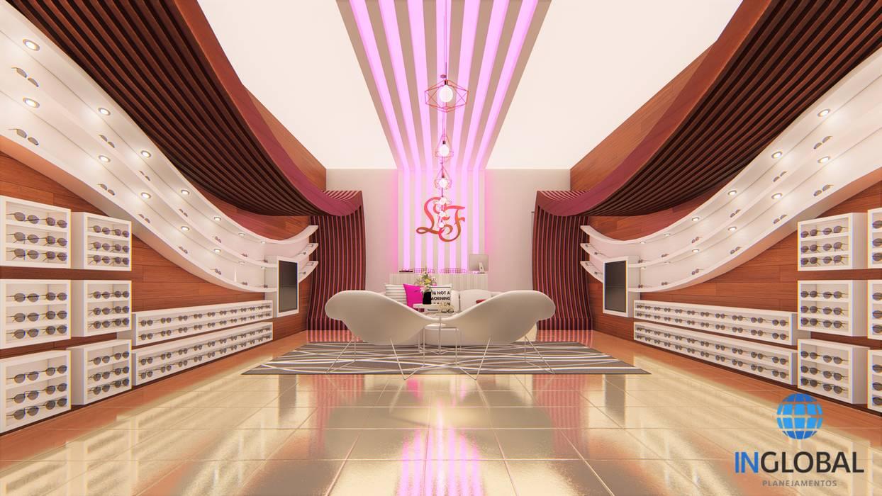 Projeto Comercial com Designer de Interiores Centros Comerciais coloniais por Inglobal planejamentos Colonial Compósito de madeira e plástico