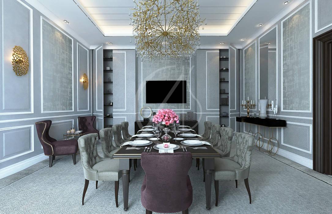 Modern Luxury House Interior Design Comelite Architecture Structure And Interior Design Salas De Jantar Modernas Cinza Homify