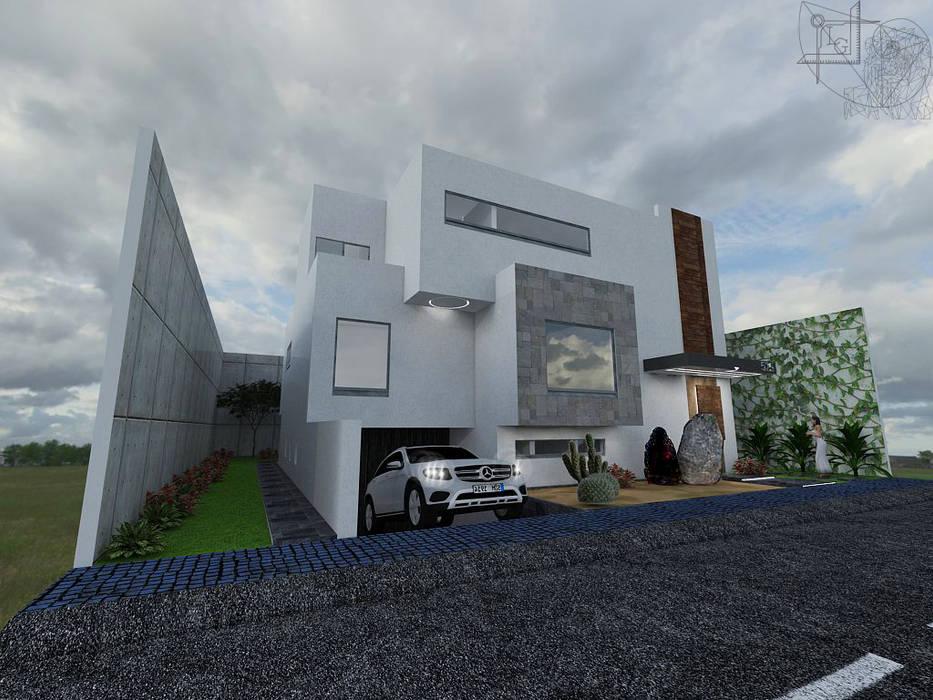 """Fachada casa habitación """"la colina"""" de Arquitectura Tiempo & Espacio Minimalista Madera Acabado en madera"""