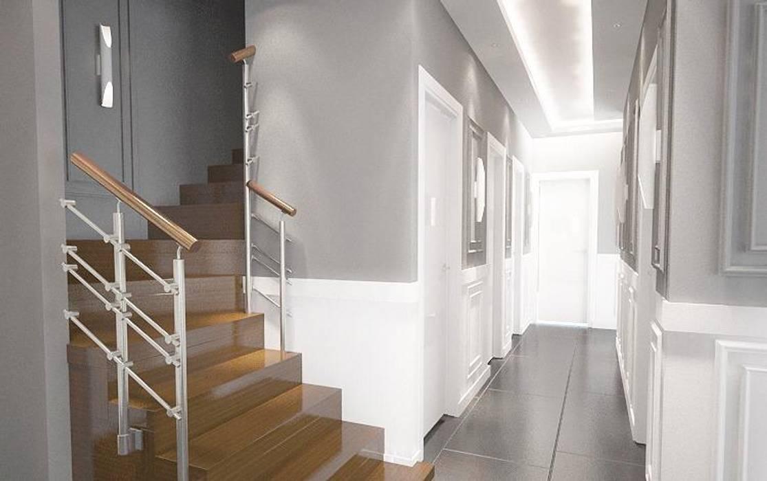 50GR Mimarlık – DUBLEKS DAİRE:  tarz Koridor ve Hol, Modern