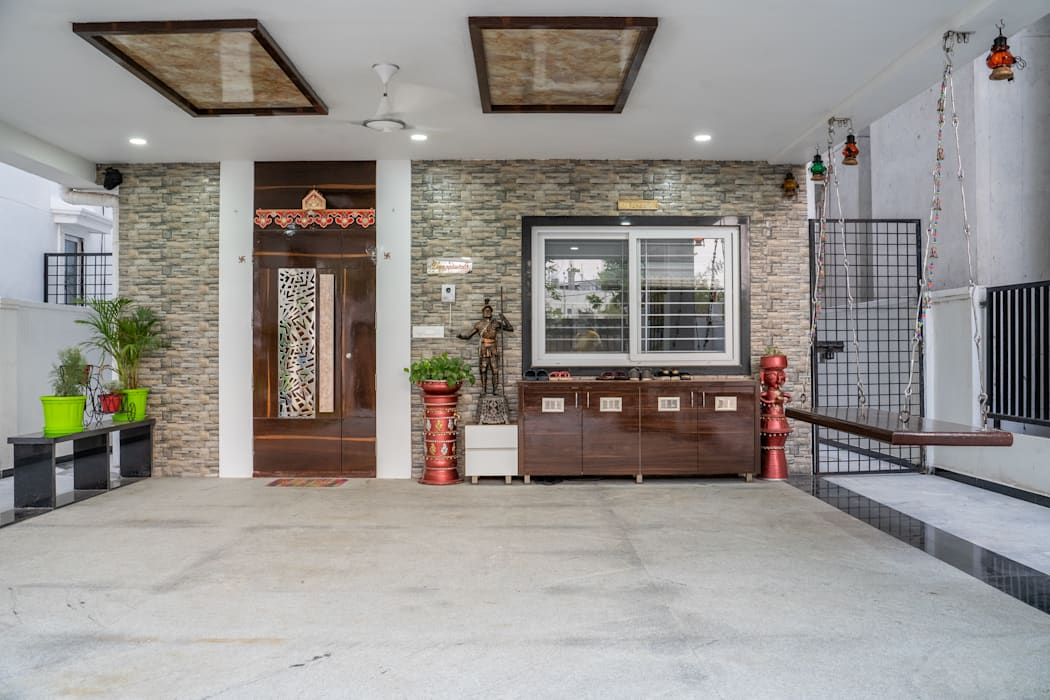 Attractive Entry Design by Nabh Design & Associates Modern Houses by Nabh Design & Associates Modern Stone
