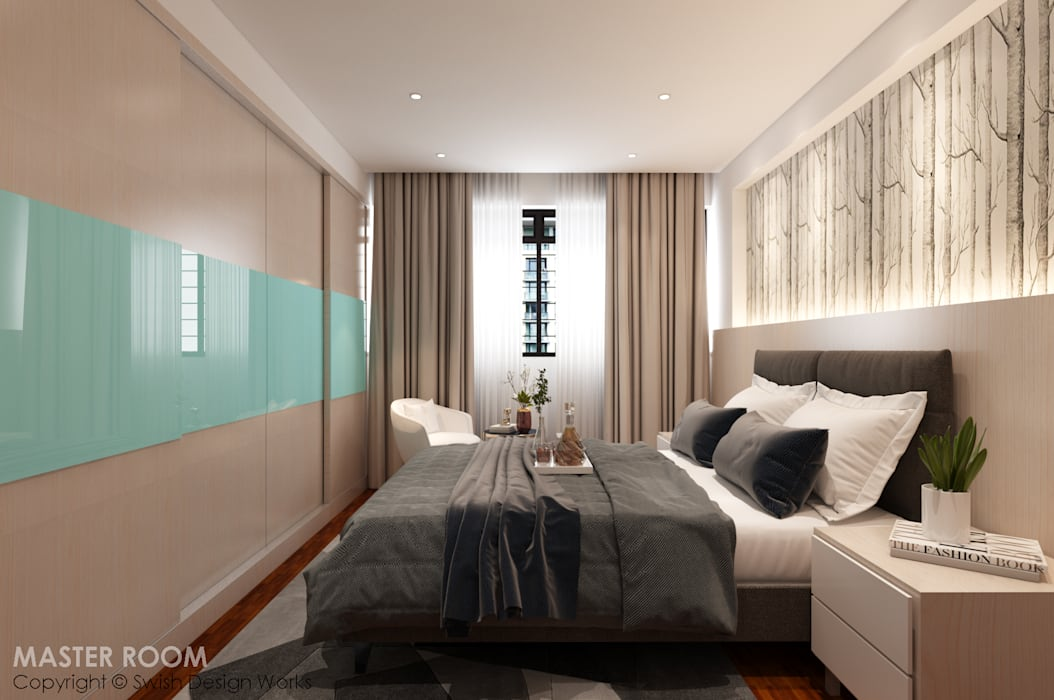 Cosy bedroom by Swish Design Works Modern Plywood