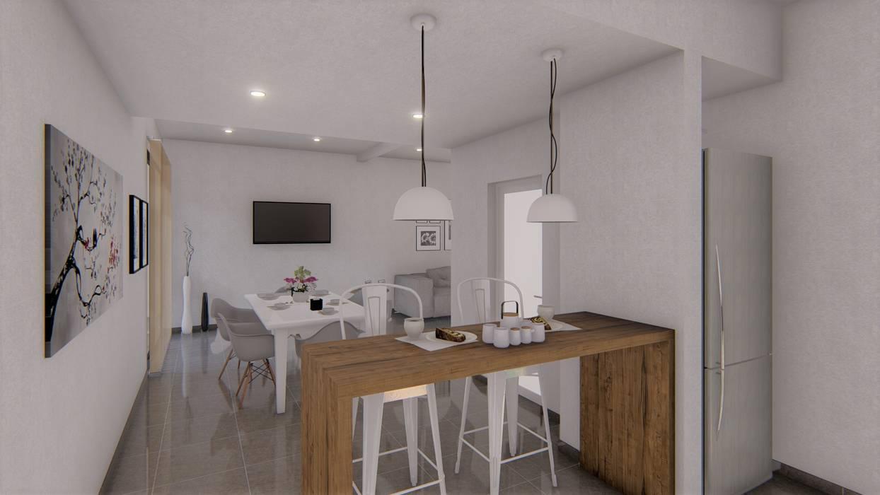 Refacción y ampliación CASA BC Cocinas minimalistas de ARBOL Arquitectos Minimalista