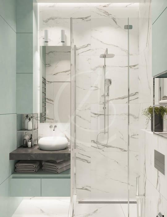 homify Modern bathroom Marble White