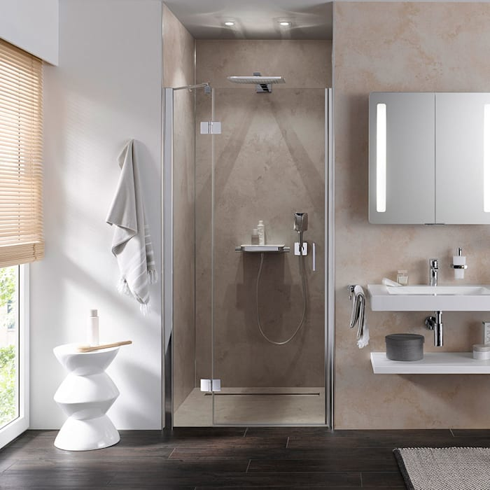Drehtür – pendelbar duschtür für nischen moderne badezimmer ...