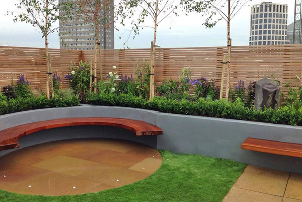 Terrace design South Kensington Modern terrace by Jonathan Mark Garden Design Modern Wood Wood effect