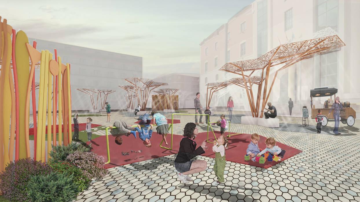 Vista General Jardines de estilo moderno de UFiVe Moderno