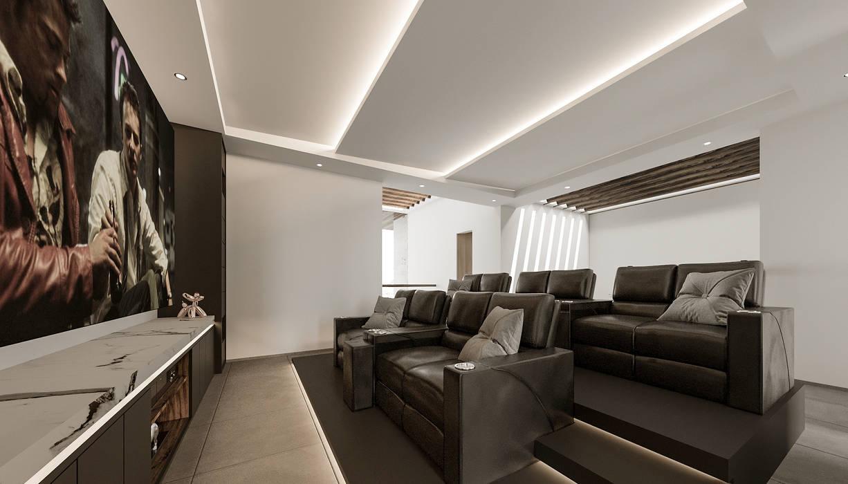 Hermosa sala de cine para 10 personas Salas multimedia modernas de Rebora Arquitectos Moderno