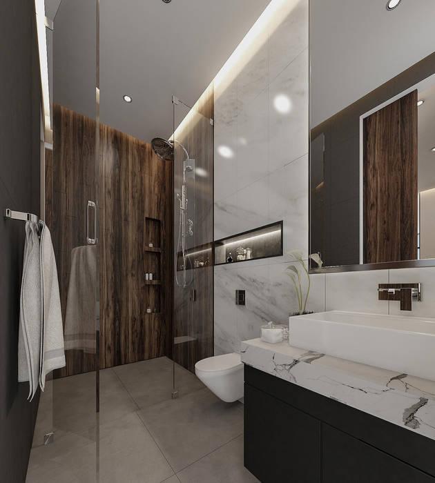 Hermoso baño moderno con WC empotrado Baños de estilo moderno de Rebora Arquitectos Moderno Mármol