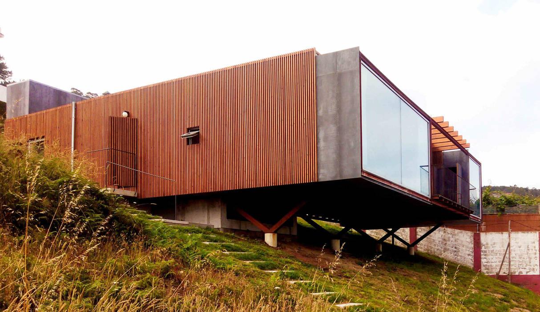 Vista exterior de Porkostudio Escandinavo Madera Acabado en madera
