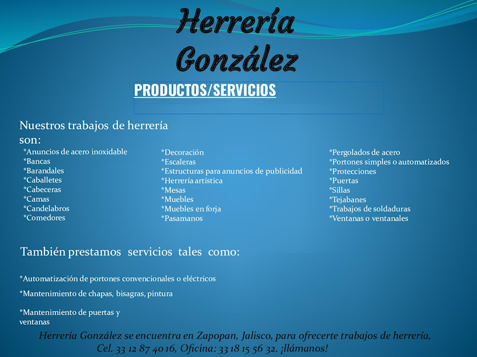 HERRERIA GONZALEZ 根據 herrería gonzalez 田園風 金屬