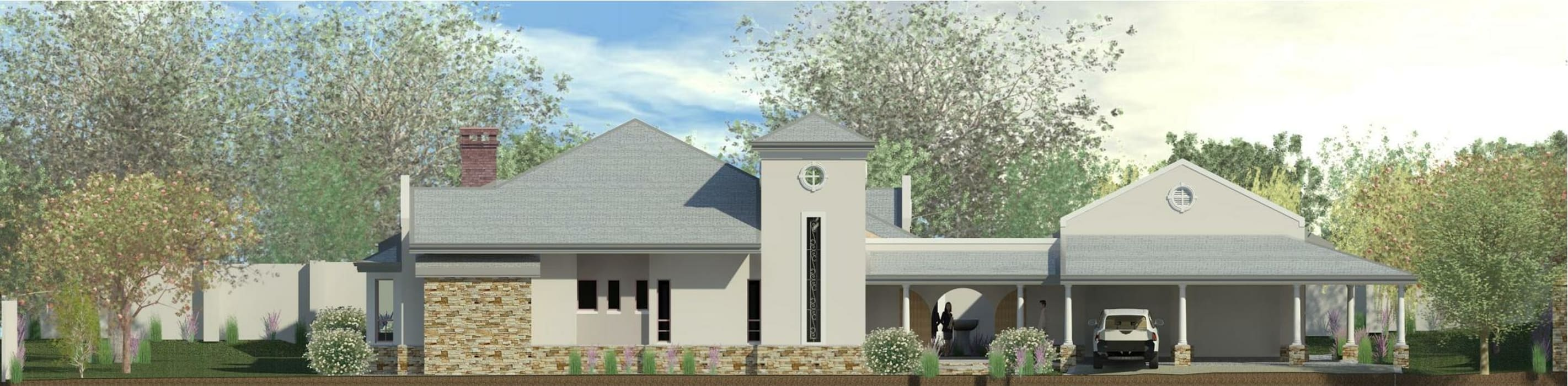Rendering West Elevation:  Houses by Nuclei Lifestyle Design, Modern