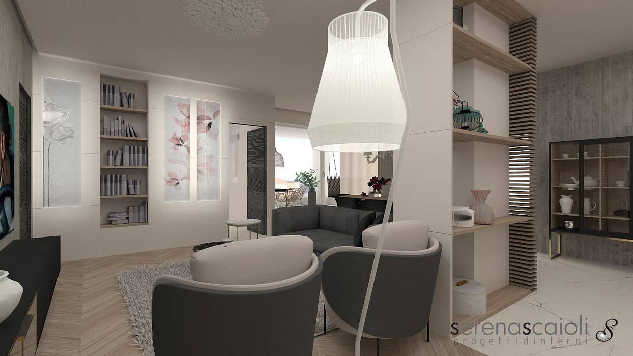 Living....per il relax: Soggiorno in stile  di serenascaioli_progettidinterni, Moderno