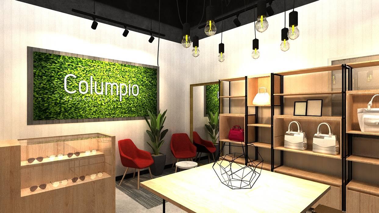 Iluminación y decoración: Espacios comerciales de estilo  por AUTANA estudio, Moderno Aglomerado