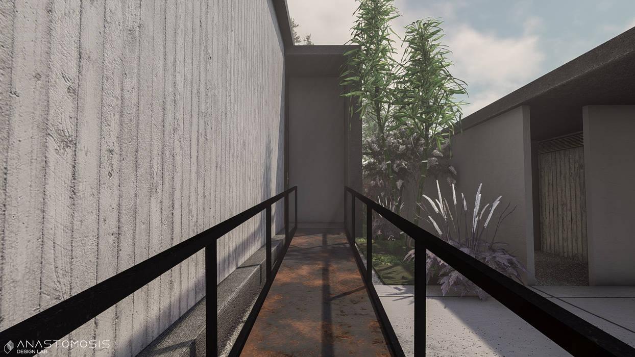 Couloir, entrée, escaliers minimalistes par Anastomosis Design Lab Minimaliste
