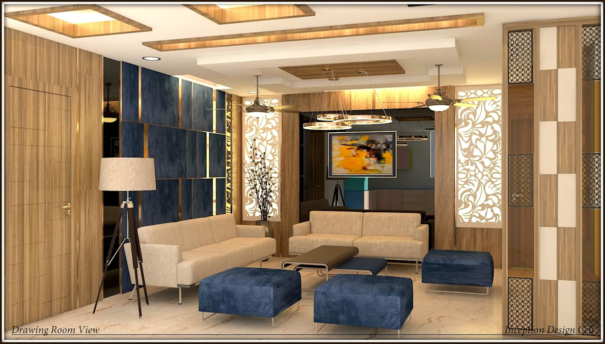 Living Room Modern living room by Inception Design Cell Modern Solid Wood Multicolored