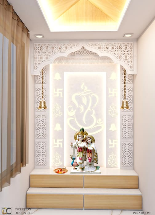 Puja Room Modern walls & floors by Inception Design Cell Modern
