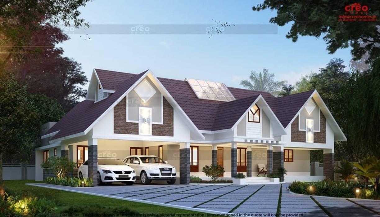Balcón de estilo  de CreoHomes Pvt Ltd, Asiático