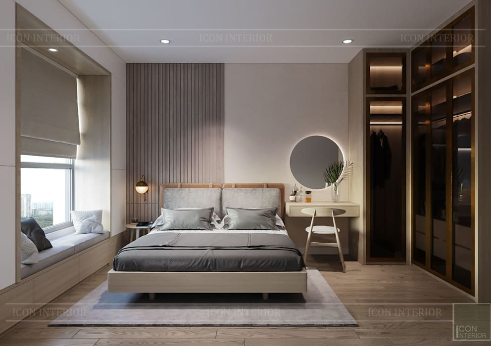Nội thất phong cách tối giản Minimalism Phòng ngủ phong cách tối giản bởi ICON INTERIOR Tối giản