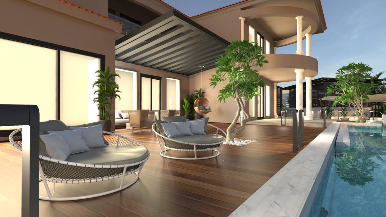 Pool deck Modern Garden by Saif Mourad Creations Modern