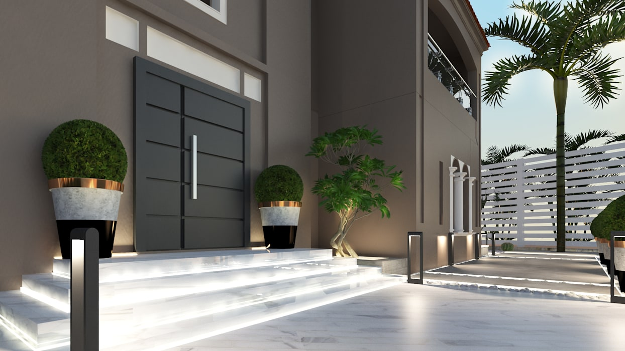 Villa entrance by Saif Mourad Creations Modern