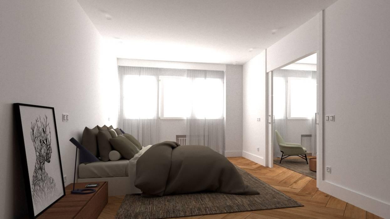 SUITE PRIVADA Dormitorios de estilo minimalista de arQmonia estudio, Arquitectos de interior, Asturias Minimalista