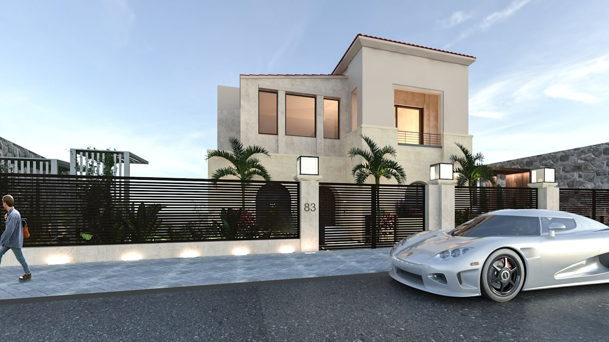 Exterior fence by Saif Mourad Creations Modern