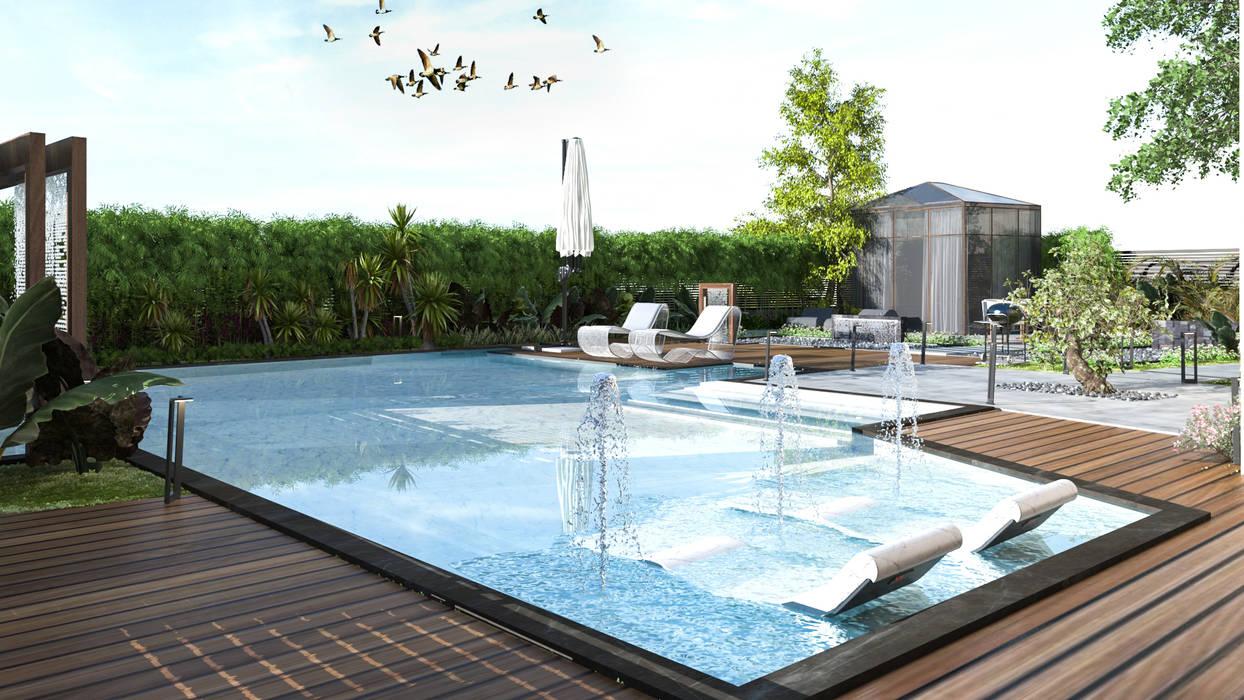 Pool deck by Saif Mourad Creations Modern