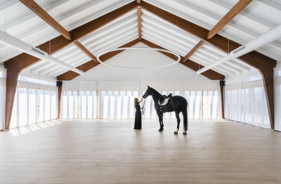 Salon de eventos Caseta Nova Salones de eventos de estilo moderno de yuû arquitectura Moderno Madera Acabado en madera