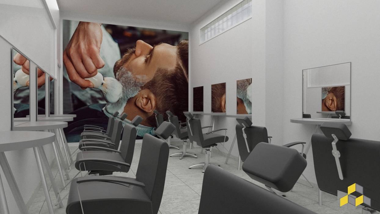 Sala de Barbeiro Escolas modernas por KN Arquitetura e Interiores Moderno