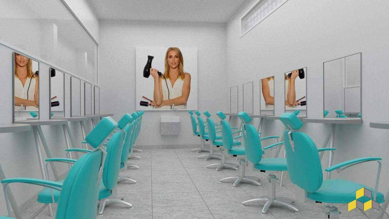 Sala cabeleireiro Escolas modernas por KN Arquitetura e Interiores Moderno